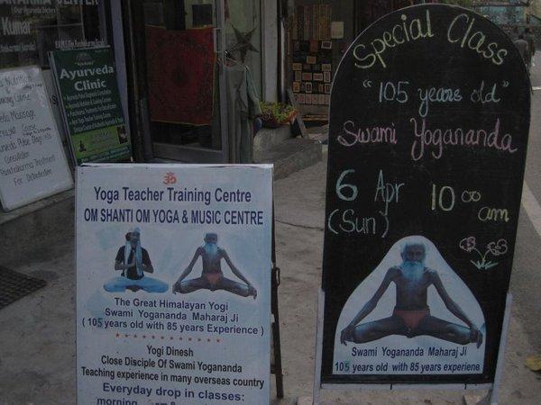 Geier in Orcha, der Hundertfünfjährige Swami Yogananda in Rishikesh